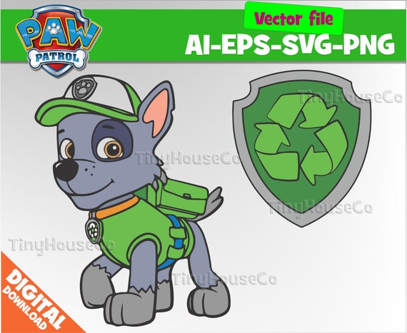Rocky Svg Paw Patrol Svg Eps Png Clipart Paw Patrol Party Paw