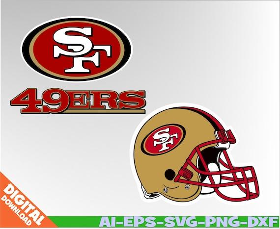San Francisco 49ers Svg 49ers Clipart Nfl Svg Football Svg Etsy