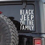 Black Jeep Of The Family - Decal - Window Sticker - Jeep Accessories - Gift  - Jeep Girl - Funny - Sayings - Quotes - Black Sheep - Wrangler