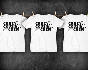 6992e74b52f Crazy cousin crew | Etsy