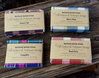 Four Bar Handcrafted All Natural Artisan Soap Sampler