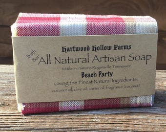 Handcrafted All Natural Artisan Soap (Beach Party)