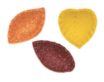 Mini Fall Leaves Set of 3 Cat Toys - Organic Catnip