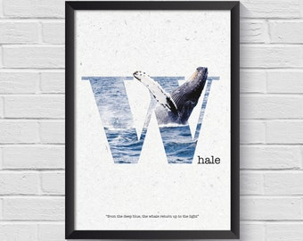 W Poster | Whale Poster