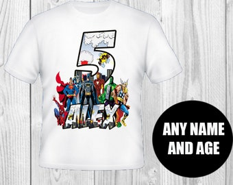 Avengers Superhero Birthday Shirt