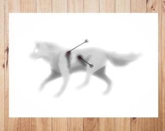 Wolf downloadable Digital Art Illustration watercolor Animal JPG