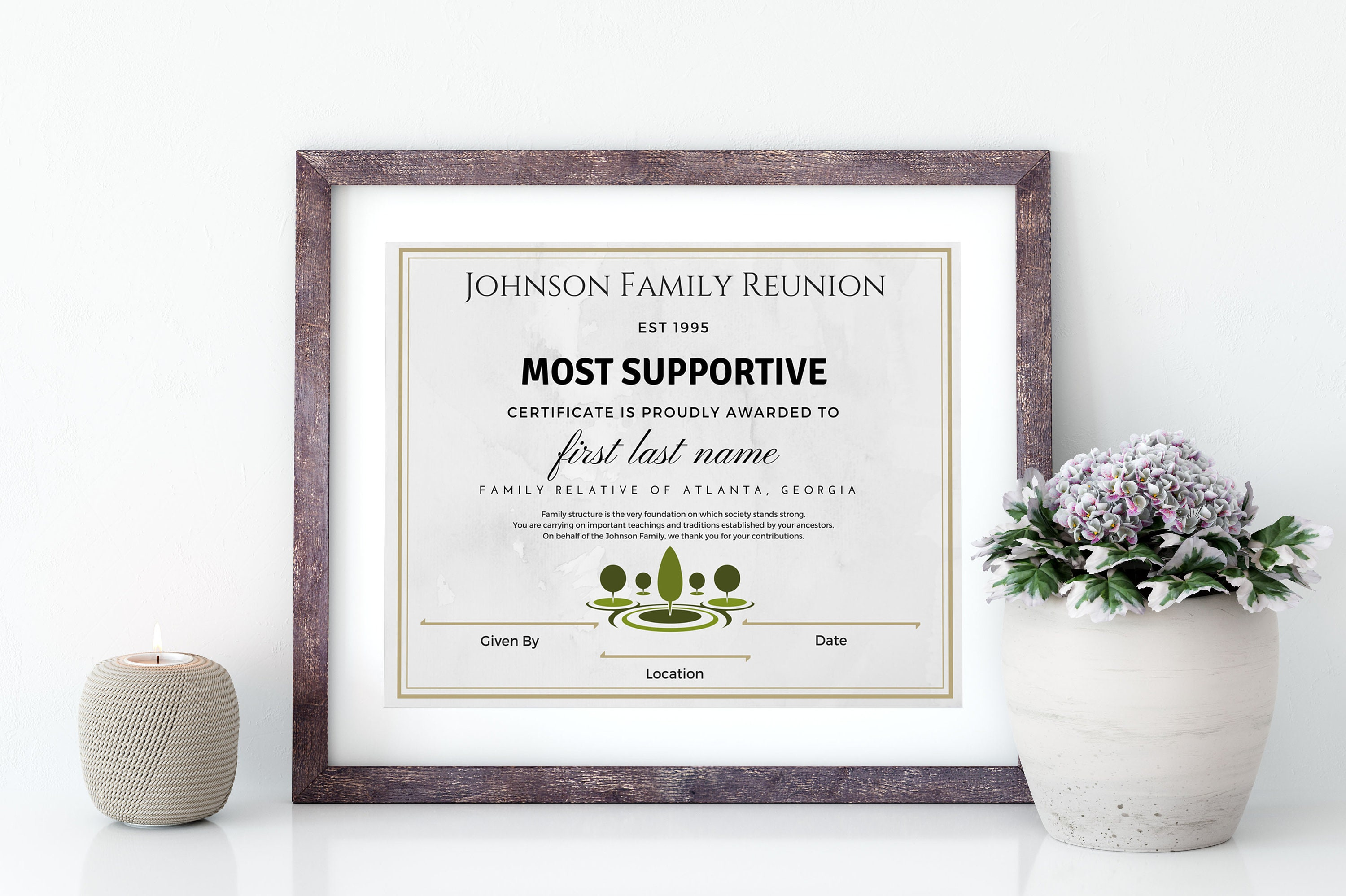 Digital Download Family Reunion Awards Family Reunion Etsy