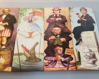 Haunted Mansion Stretching Portraits Full POSTER PRINT Set 4 Piece Disney 8in X 20in EACH