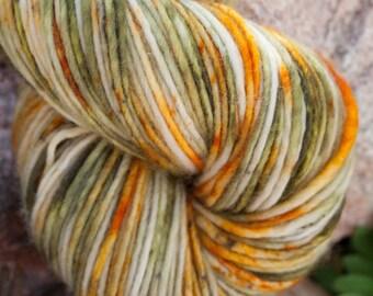 PRAIRIE ROCKET- Superwash DK 100% merino wool hand dyed speckled yarn 100g/240yard skein