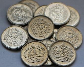 Antique Fifteen Small SWEDEN SILVER HOARD Coins