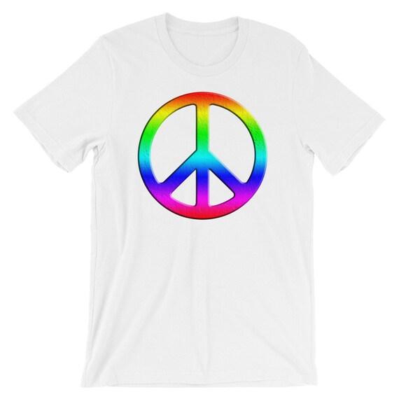 Rainbow Peace Sign Shirt Peace Sign Symbol Peace Shirt Etsy