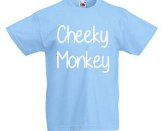 Cheeky Monkey Kid's T Shirt