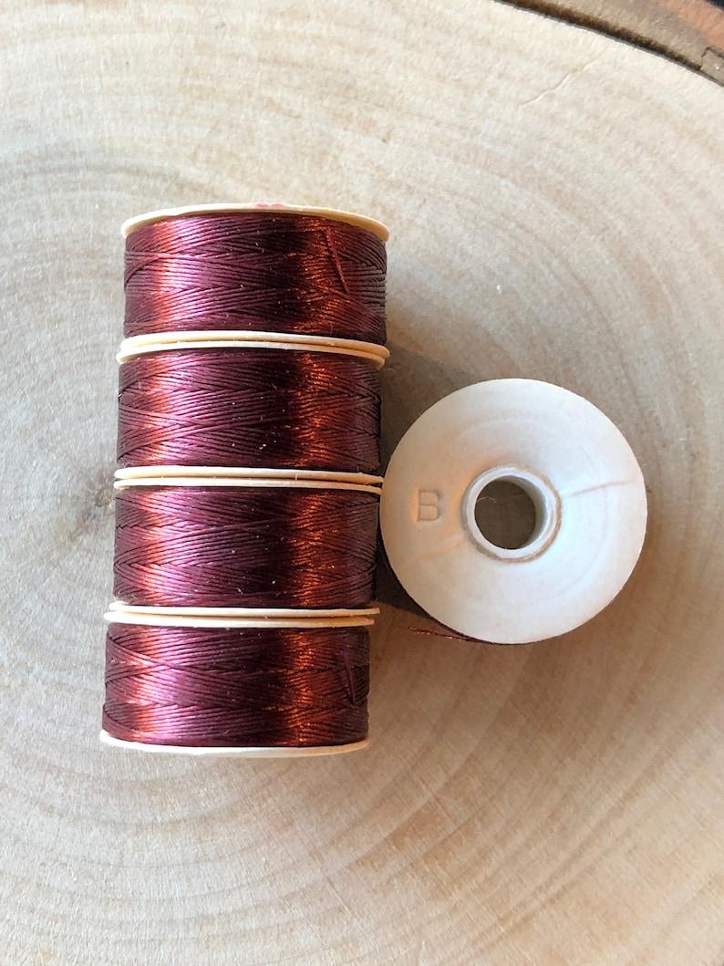 Burgundy Nymo B Beading Thread 64yd Bobbin