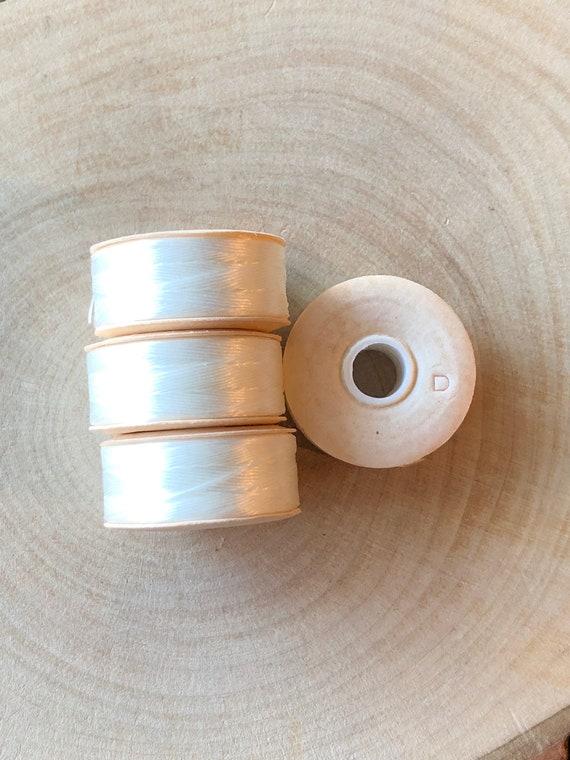 Nymo Size D Nylon Bead Weaving Thread Silver Grey 64yd