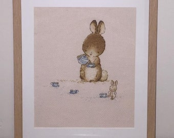 Bunny Tea Party Wall Hanging