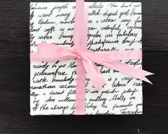 Tile Coasters, Book Page and Script