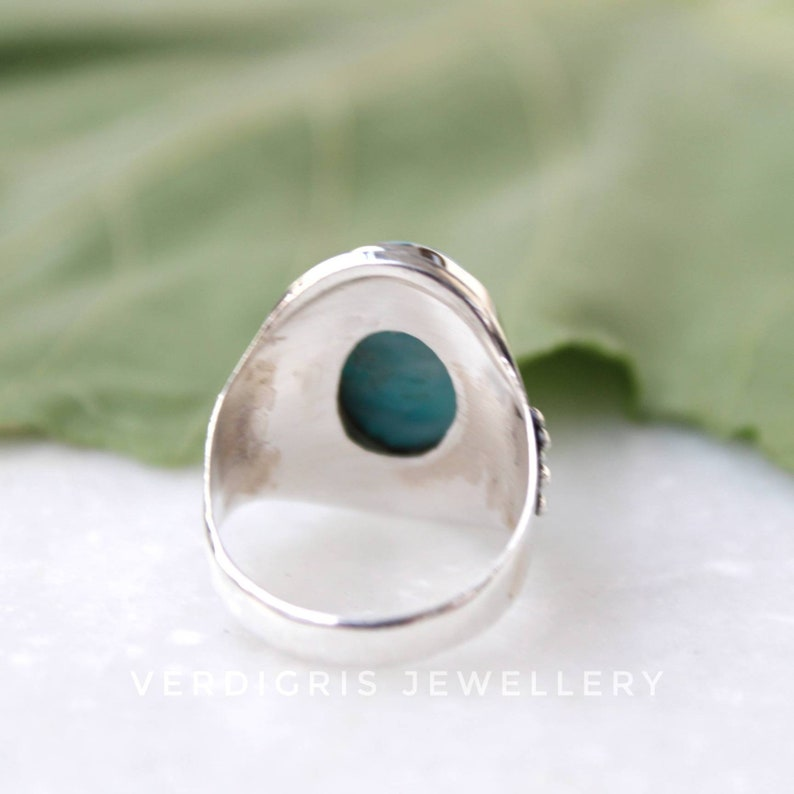 native American style alternative engagement ring Natural larimar ring 100/% handmade Bold Sterling Silver Statement ring AAA larimar