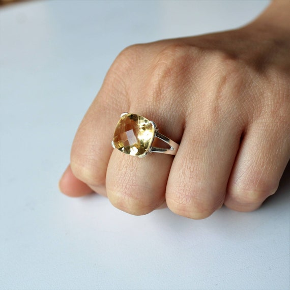 anniversary ring 925 sterling silver birthday ring fathers day gift ring citrine ring citrine mens ring oxidized silver orange citrine ring gemstone ring Arabic design ring statement ring