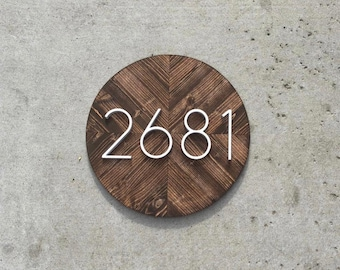 Vertical house numbers | Etsy