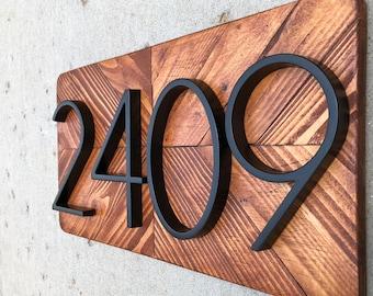 Address Plaque, Number Sign, Address Numbers, Address Sign, Beach Cottage Decor, Beach Cottage Sign, House Number Plaque NO:N15