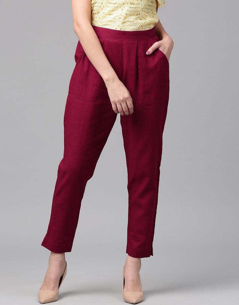Elastic waist pants with pockets Buy 2 get 1 FREE Khadi cotton pants Casual  pants Women pants Cotton pants Khadi pants Black pants