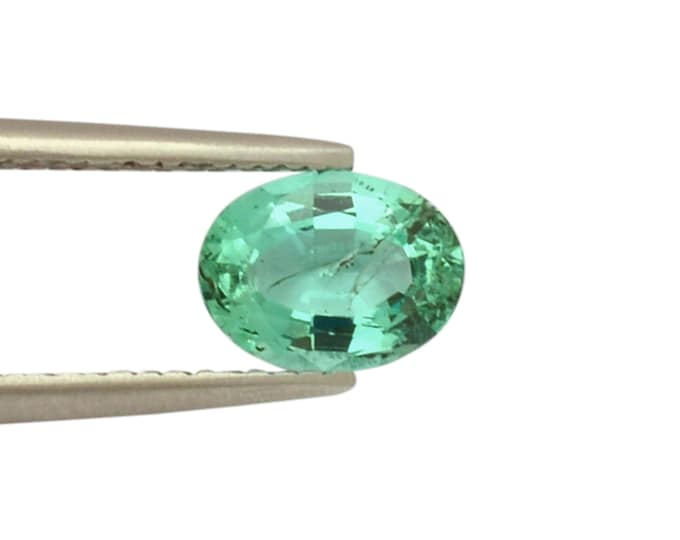 100/% Natural Untreated Emerald 1 Carat Zambian Emerald Oval Cut For Ring Loose Gemstone May Birthstone 8x6 mm Faceted Oval