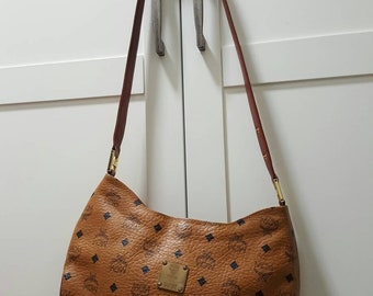 189d2dc98558 Authentic MCM Brown Visetos Germany Vintage Shoulder Bag Fast shipping