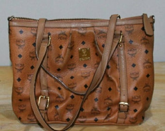 8754555a791e Authentic MCM Brown Visetos Shoulder Bag