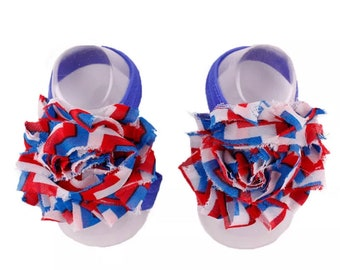 Red White & Blue Barefoot Sandals( free shipping)