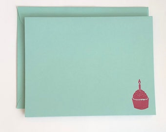Cupcake Birthday Card Set