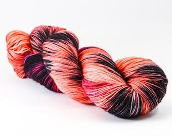 Hand Dyed Yarn - OF THORNS & ROSES - 80/20 Australian Merino/Nylon Sock Yarn