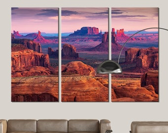 Wall Art Décor Monument Valley Picture on Stretched Canvas Ready to Hang
