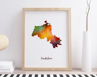 Kurdistan Karte 2019.Kurdistan Map Etsy