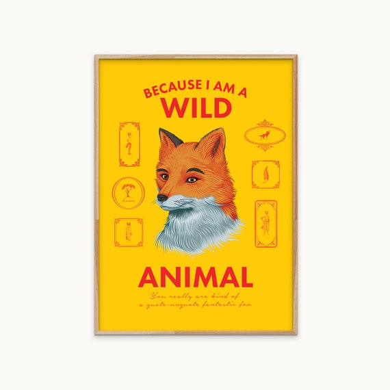 Fantastic Mr Fox Poster Movie Poster Wes Anderson Roald Etsy