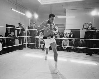 Muhammad Ali Training Print - Muhammad Ali - Iconic Wall Art - Eclectic Home Decor