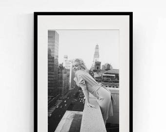 Marilyn Monroe on a Balcony in New York