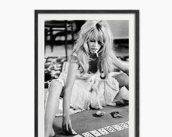Brigitte Bardot Playing Cards Art Print