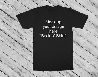 men s styled mock up black t shirt with shoes and blue etsy