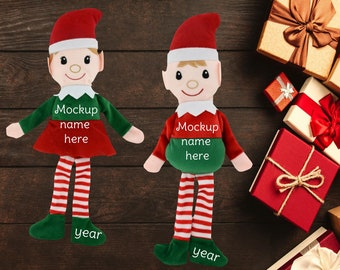 Download Free Elf mockup, Customized Elf mockup, Christmas Elf mockup, Personalized Elf mockup, mockup your design, Plush Elf mockup, Elf Plush mockup PSD Template