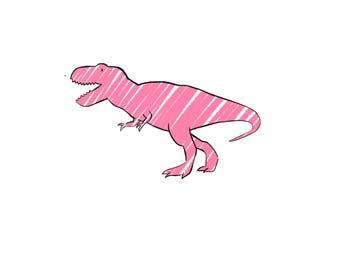 Niallycat T-rex Dinosaur Print
