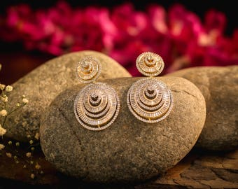 Concentric Circle design Earrings