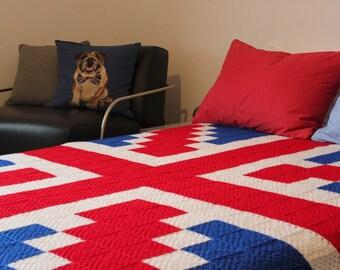 Union Jack Crocheted Blanket
