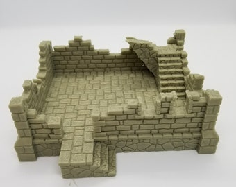 Fantasy Ruins Terrain 1 / 2 story / 28mm Tabletop Wargaming | Etsy