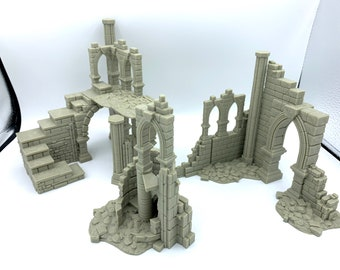 Frostguard Ruin Pack 4 /  RPG and Wargame 3d Printed Tabletop Terrain / Licensed Printer