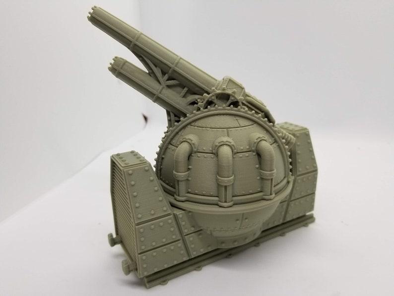 Sci-Fi Train Orbital Gun Add-On/ 28mm Wargaming Terrain / Warlayer /Print  to Order / 3d Printed/Licensed Printer