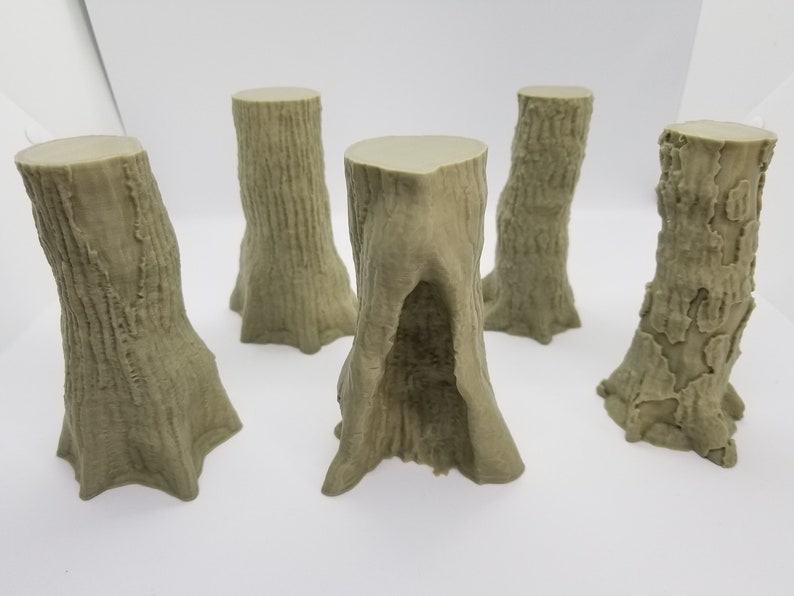 3d Printed 12cm (4 72 in) Tree Pack / SW Legion, Sci-Fi, RPG / Compatible  28mm Tabletop Wargaming Terrain / Print to Order