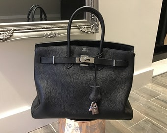 e35c4e883e7b New black Birkin handbag 35cm in black Togo leather with palladium  hardware. Perfect Christmas Gift