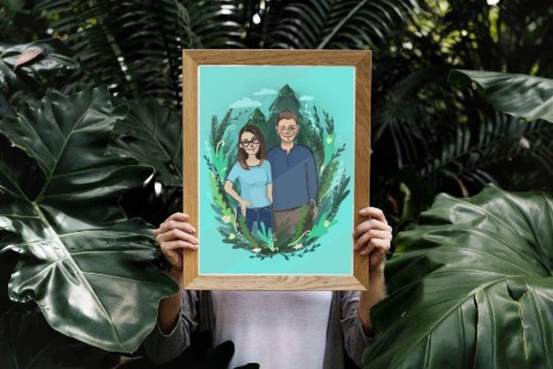 6d7296c93f6d Siblings custom portrait Printable wall decor gift brother   Etsy
