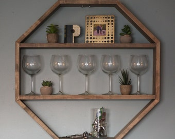 Ambrosia Maple Octagon Hanging Shelf