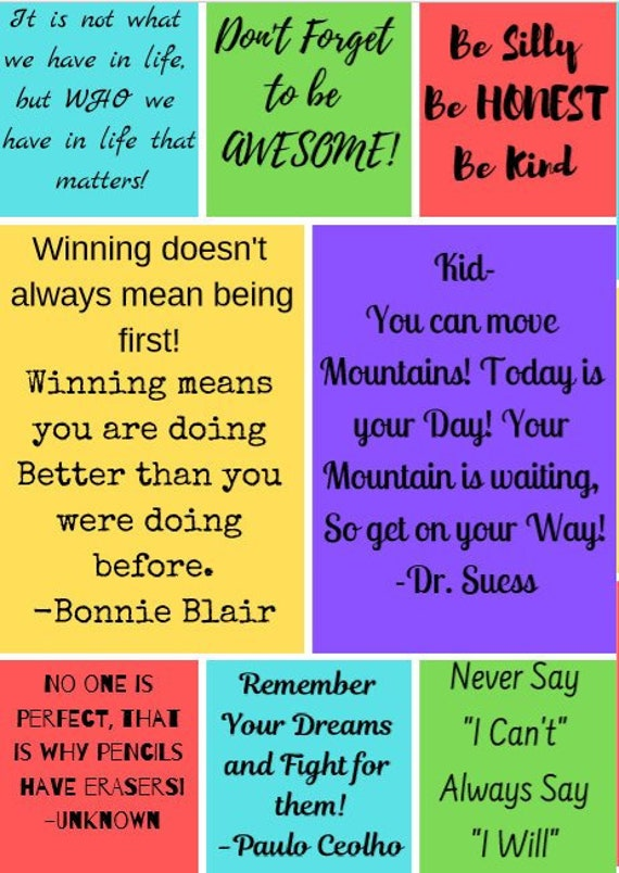 Kids Positive Quotes-32 | Etsy